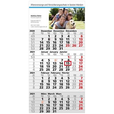 4-Monats-Wandkalender Business 2021