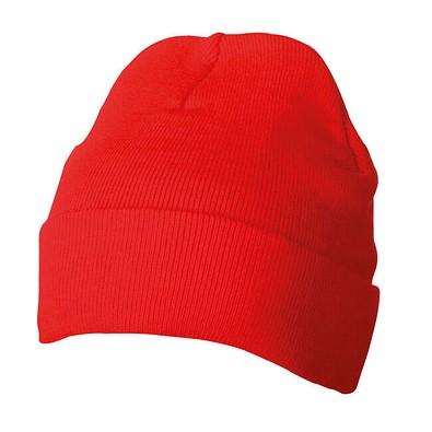 Strickmütze, rot