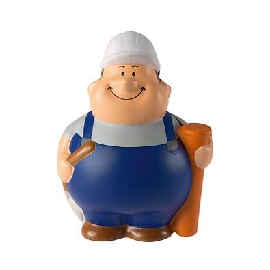 Herr Bert® Anti-Stress-Figuren Tiefbauer Bert, blau