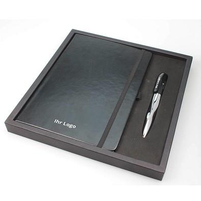 Business-Set Notes, DIN A5, blank, schwarze Mine, schwarz