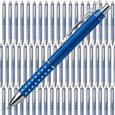 Werbe-Set: 300 Kugelschreiber Hollywood, inkl. Druck, blaue Mine, blau