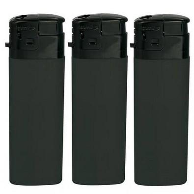 Werbe-Set: Nachfüllbare Piezo-Feuerzeuge, 400-tlg., schwarz, inkl. Druck