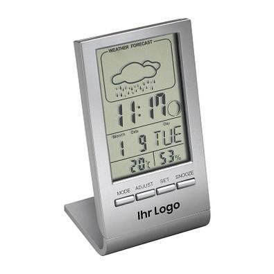 reeves® Tisch-Wetterstation mit Thermometer Dranfield, silber