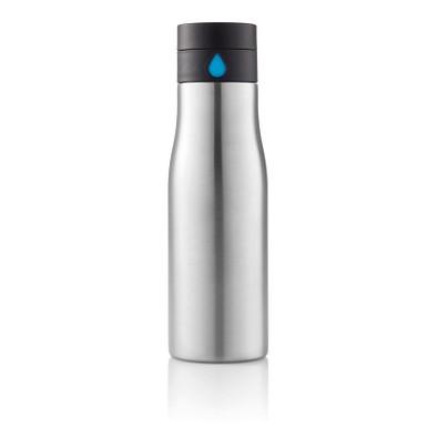XD DESIGN Aqua Auslaufsichere Hydration Flasche, 650 ml, grau/blau