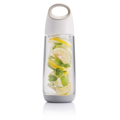 XD DESIGN Flasche mit Aromafach Bopp Fruit, 650 ml, weiß,grau