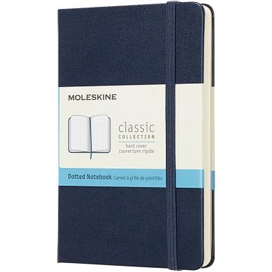 MOLESKINE® Notizbuch Classic Hardcover Taschenformat, gepunktet, saphir