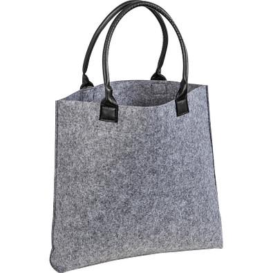 Einkaufstasche aus Filz, grau