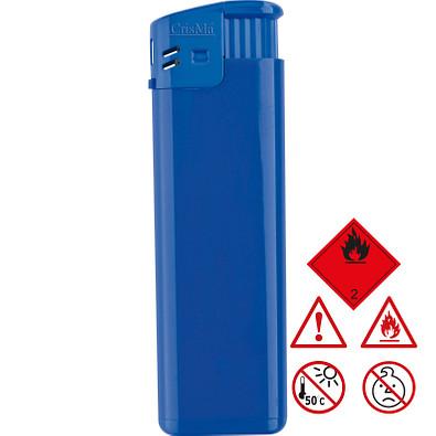 Elektronik-Feuerzeug mit verstellbarer Flammengröße, nachfüllbar, blau