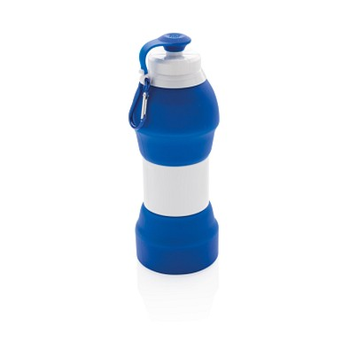 XD COLLECTION Faltbare Silikonflasche, 580 ml, blau
