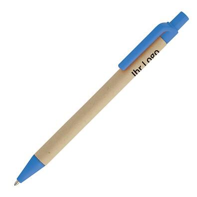 Druckkugelschreiber öko, blaue Mine, blau