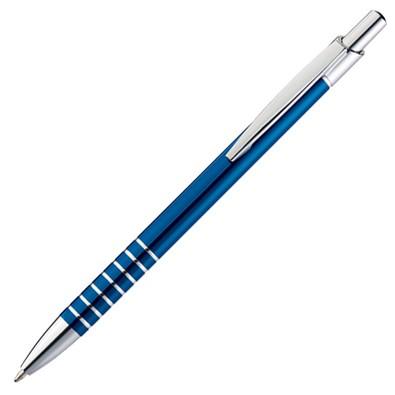 Metall-Kugelschreiber Warschau, blaue Mine, blau