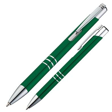 Metall-Kugelschreiber Minsk, blaue Mine, grün