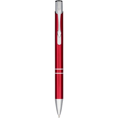 Moneta Druckkugelschreiber aus eloxiertem Aluminium, rot