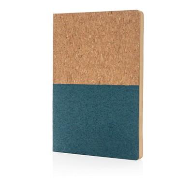 XD COLLECTION Notizbuch aus Kork, blau