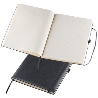 Notizbuch Retro, DIN A4, liniert, schwarz