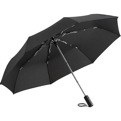 FARE® Oversize Taschenschirm Colorline, schwarz/hellgrau