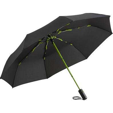 FARE® Oversize Taschenschirm Colorline, schwarz/limette