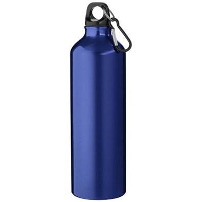 Aluminium-Trinkflasche mit Karabinerhaken, 800 ml, blau