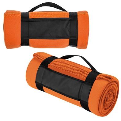 Picknick-Fleece-Decke Softy, orange