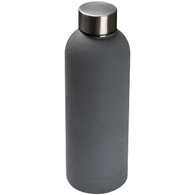 Edelstahl-Trinkflasche Premium, 500 ml, grau