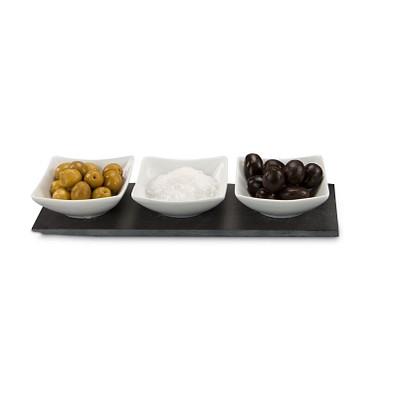 ROMINOX® Servierschalen Tre Ardesia, schwarz/weiß
