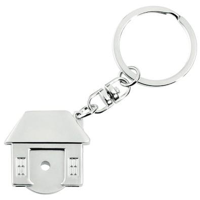 METMAXX® Schlüsselanhänger mit Chip, Home, silber