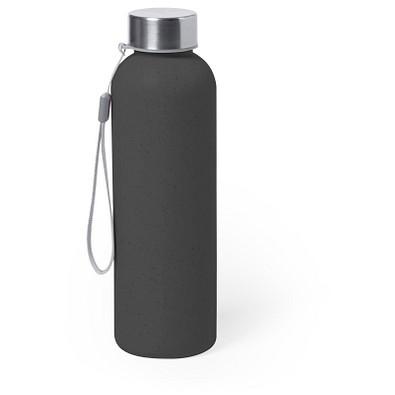 Bambus-Trinkflasche Dolken, 600 ml, schwarz