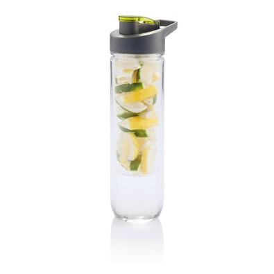 XD COLLECTION Wasserflasche mit Aromafach, 800 ml, grün