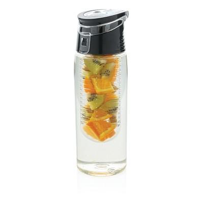 XD COLLECTION Verschließbare Aromaflasche, 700 ml, transparent/grau