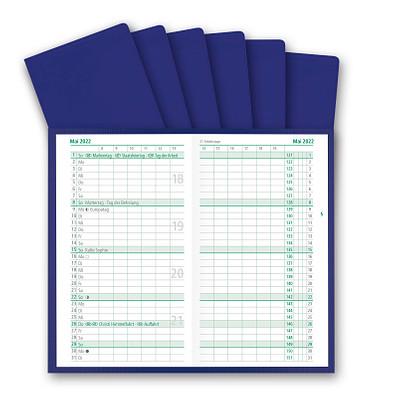 Werbe-Set: 200 Taschenkalender Pocketdata 2022, blau, inkl. Druck